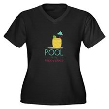 The Pool Is My Happy Place Plus Size T-Shirt
