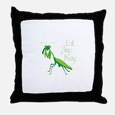Eat Sleep Pray Throw Pillow