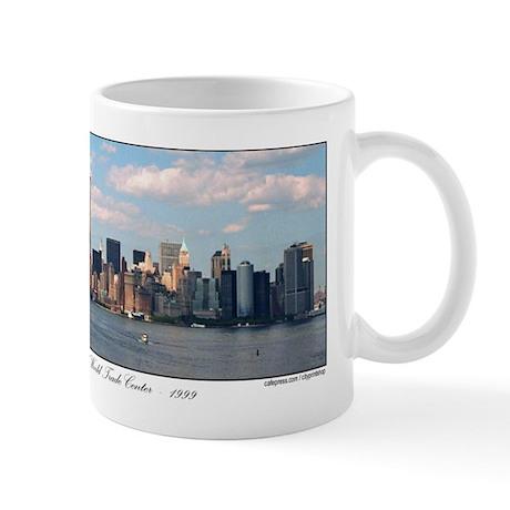 Twin Towers as seen in New York skyline / Mug
