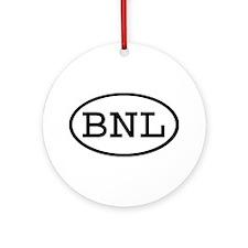 BNL Oval Ornament (Round)