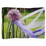 Lavender flower ball with streaming ribbons Pillow