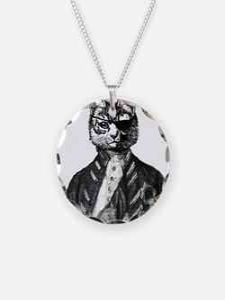 Vintage Pirate Cat Necklace
