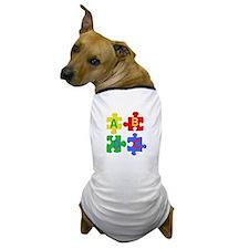 Puzzle Letters Dog T-Shirt