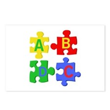 Puzzle Letters Postcards (Package of 8)