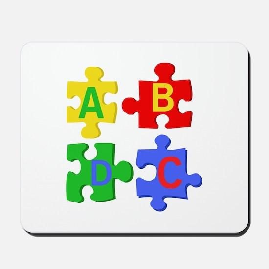 Puzzle Letters Mousepad