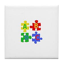 Puzzle Letters Tile Coaster