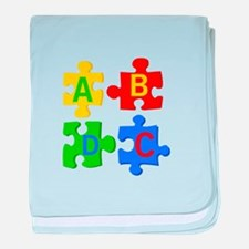 Puzzle Letters baby blanket