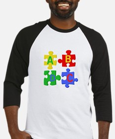 Puzzle Letters Baseball Jersey