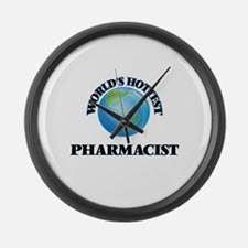 World's Hottest Pharmacist Large Wall Clock