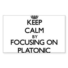Keep Calm by focusing on Platonic Decal