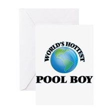 World's Hottest Pool Boy Greeting Cards