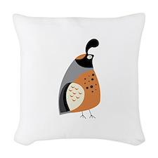 Partridge Woven Throw Pillow