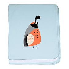 Partridge baby blanket