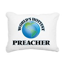 World's Hottest Preacher Rectangular Canvas Pillow