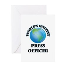 World's Hottest Press Officer Greeting Cards