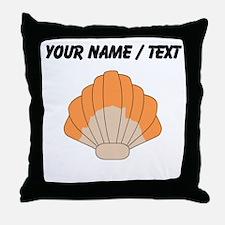 Custom Orange Clam Shell Throw Pillow