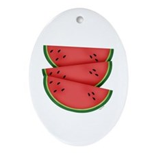watermelon Oval Ornament
