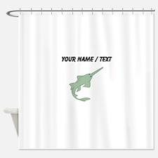 Custom Sawfish Shower Curtain