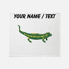Custom Salamander Throw Blanket
