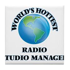 World's Hottest Radio Studio Manager Tile Coaster