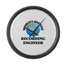 World's Hottest Recording Enginee Large Wall Clock