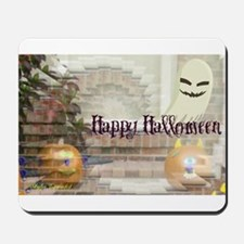 Illusionary Pumpkins and Ghost Mousepad