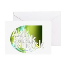 Ask, Seek, Knock Greeting Card