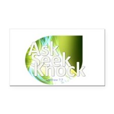 Ask, Seek, Knock Rectangle Car Magnet