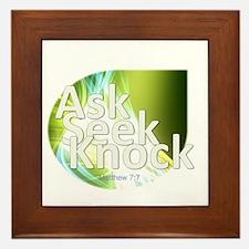 Ask, Seek, Knock Framed Tile