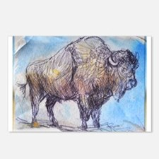 American Buffalo, animal art Postcards (Package of