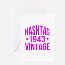 Hashtag 1943 Vintage Greeting Card