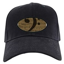 Musical Bass Clef sheet music Baseball Hat
