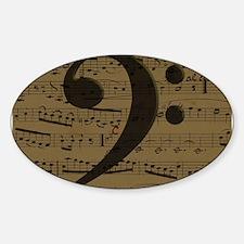 Musical Bass Clef sheet music Decal