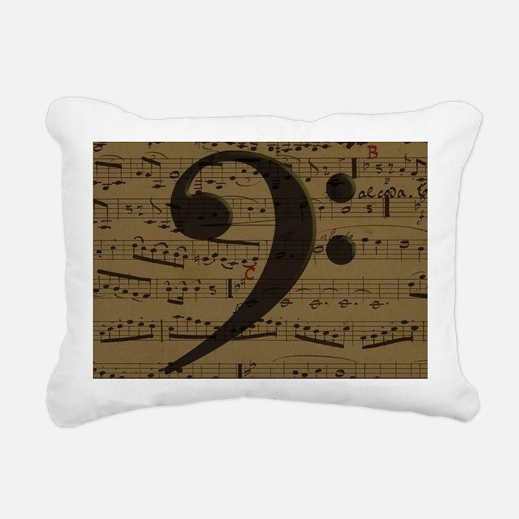 Musical Bass Clef sheet music Rectangular Canvas P