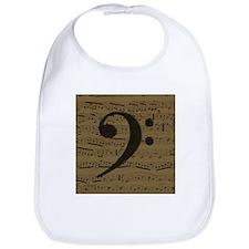 Musical Bass Clef sheet music Bib