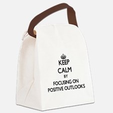 Keep Calm by focusing on Positive Canvas Lunch Bag