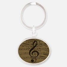 Musical Treble Clef sheet music Keychains