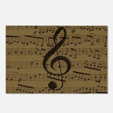 Musical Treble Clef sheet music Postcards (Package