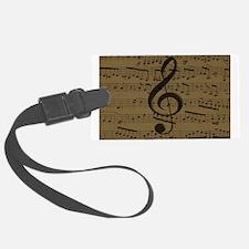 Musical Treble Clef sheet music Luggage Tag