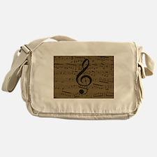 Musical Treble Clef sheet music Messenger Bag