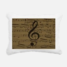Musical Treble Clef sheet music Rectangular Canvas