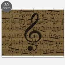 Musical Treble Clef sheet music Puzzle
