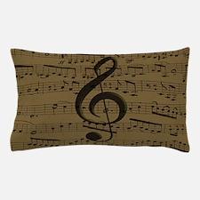 Musical Treble Clef sheet music Pillow Case