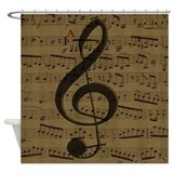 Musical notes Shower Curtains