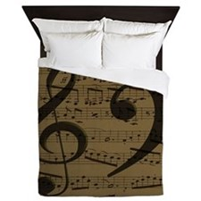Treble Clef Bass sheet music Queen Duvet