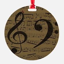 Treble Clef Bass sheet music Ornament