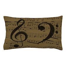 Treble Clef Bass sheet music Pillow Case