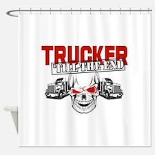 Trucker 'Till The End Shower Curtain