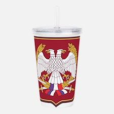 Army of Serbia Monten Acrylic Double-wall Tumbler