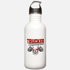 Trucker 'Till The End Water Bottle